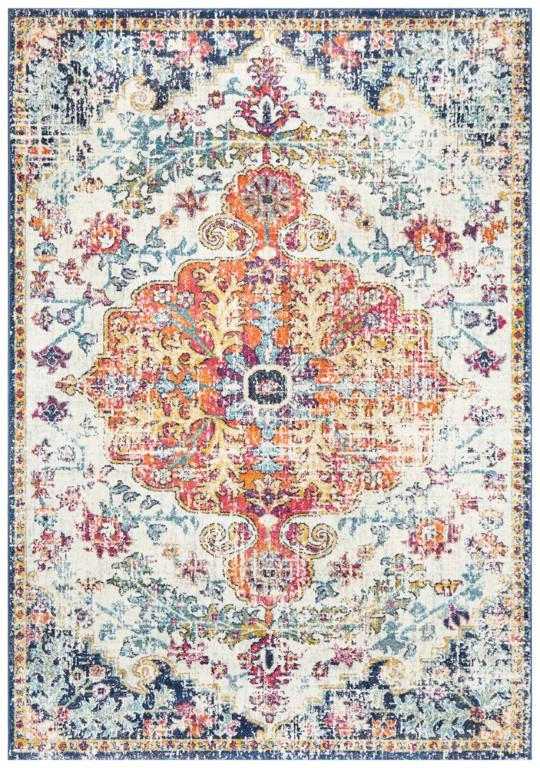 Rugs - Eliza 254 White Cream Orange Modern Rug