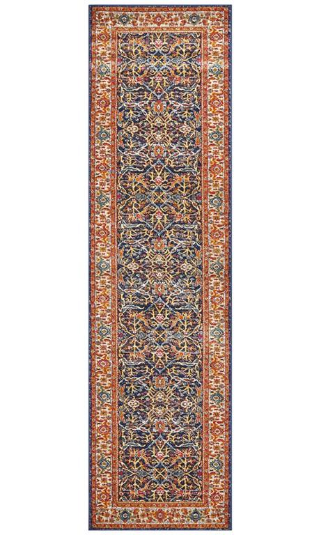 Rugs - Eliza 262 Multi Navy Orange Modern Rug