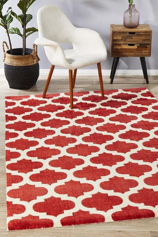 Rugs - Leon 560 Red Modern Rug