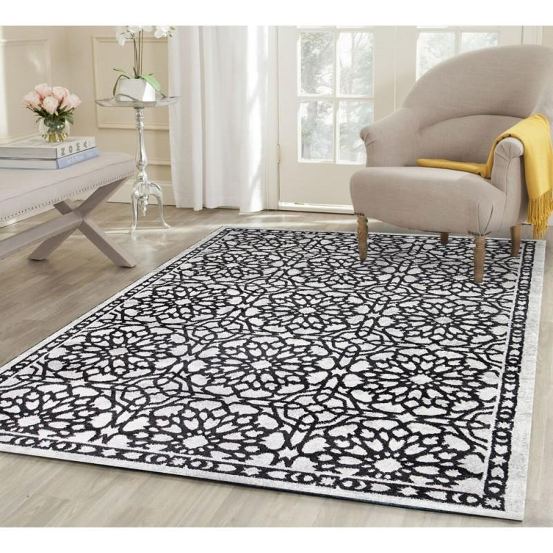 Rugs - Maria Modern Dark Grey Demask 1591896 Rug
