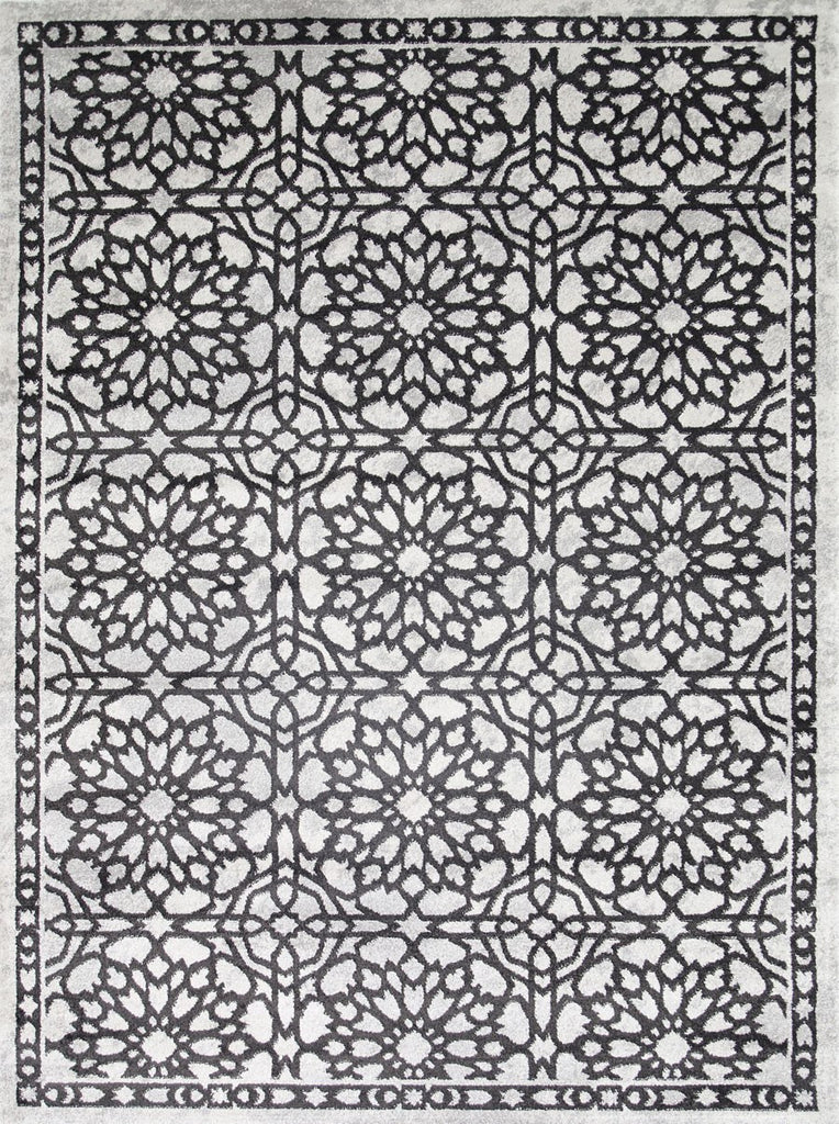 Rugs - Maria Modern Dark Grey Demask Rug