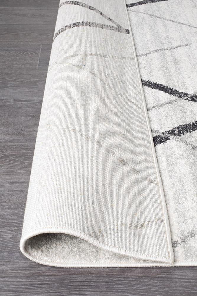 Rugs - Oakley White Grey Contemporary Rug