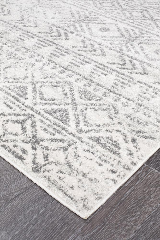Rugs - Oakley White Grey Rustic Rug