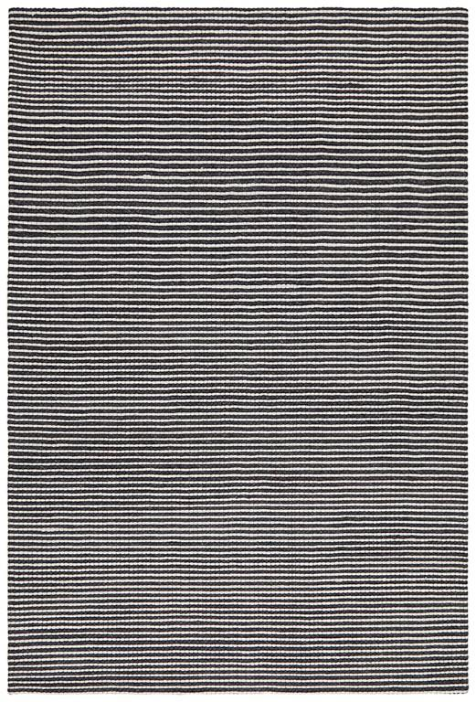 oskar  black white felted wool striped rug  rugtastic -  rugs  oskar  black white felted wool striped rug