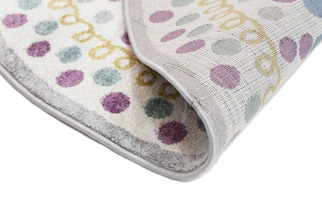 Rugs - Pica Round 133cm Polka Dot Love Heart Multi 15923956
