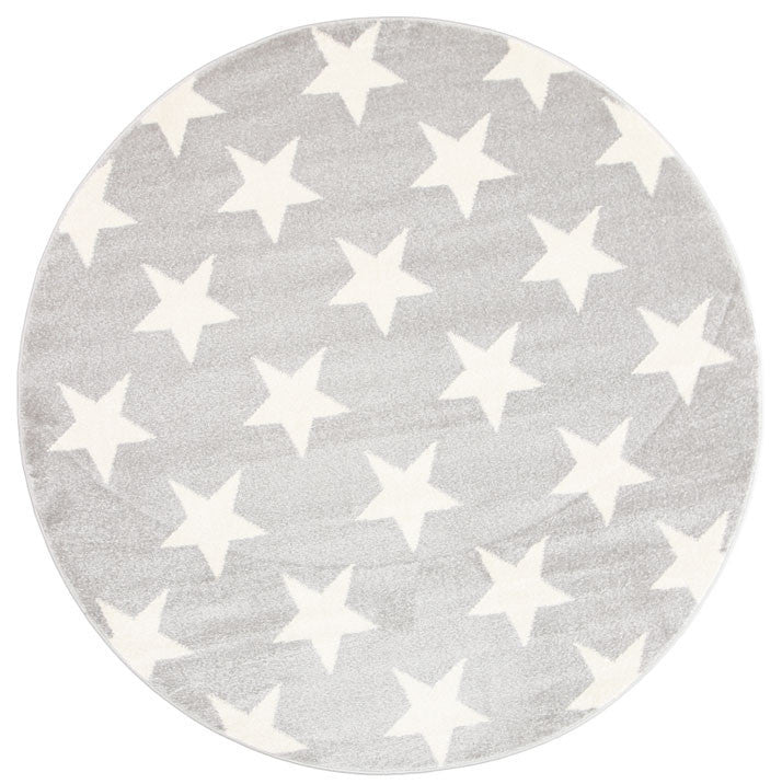 Rugs - Pica Stars Light Grey White