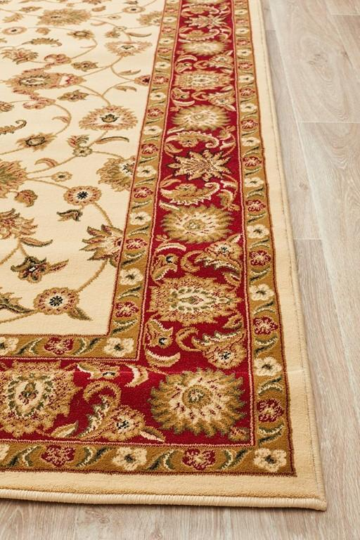 Rugs - Salaam 1 Ivory Red Persian Rug