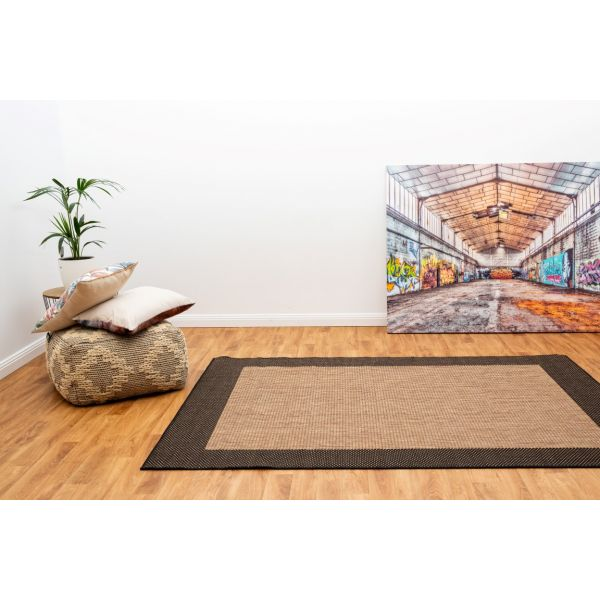 Duva Indoor Outdoor Rug 17 Coffee Black