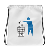 Please place religion in trash drawstring bag.