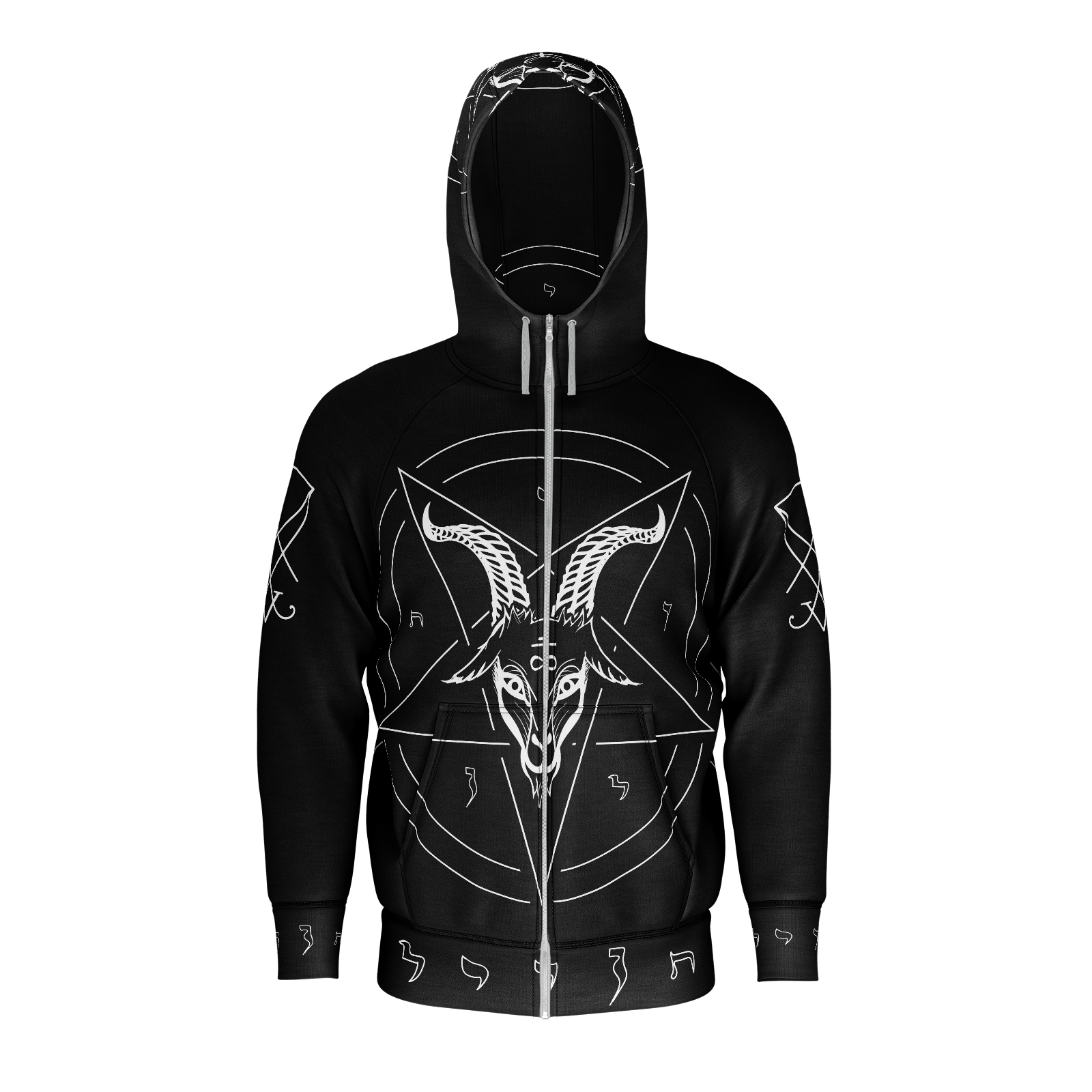 Satanist Baphomet Pentagram Sigil Of Lucifer Hoodie - Logikal Threads