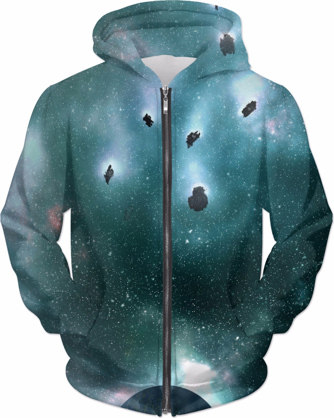 Space Print Hoodie - Logikal Threads