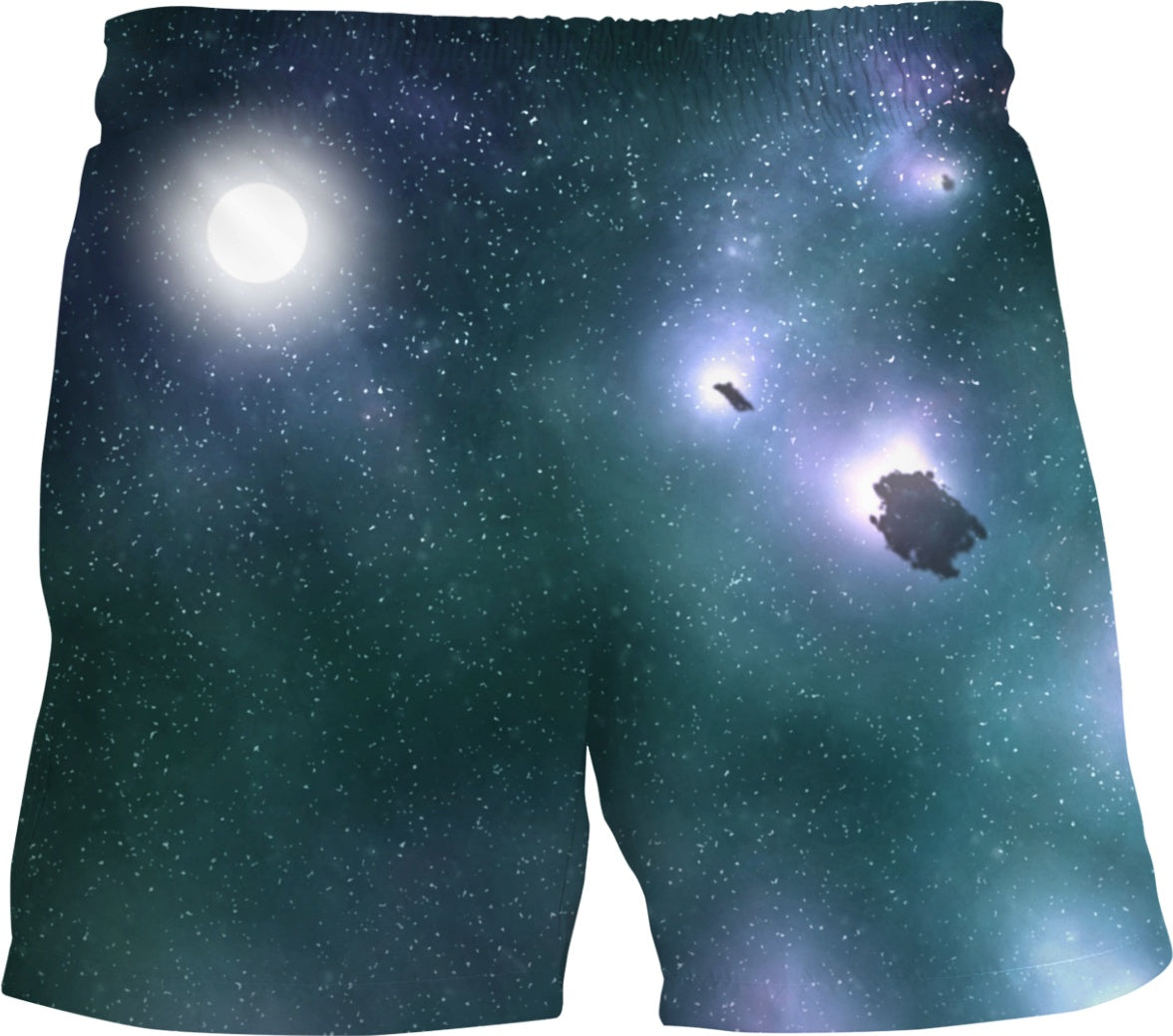 Glowing Alien Planet Men's Swim Trunks - Logikal Threads