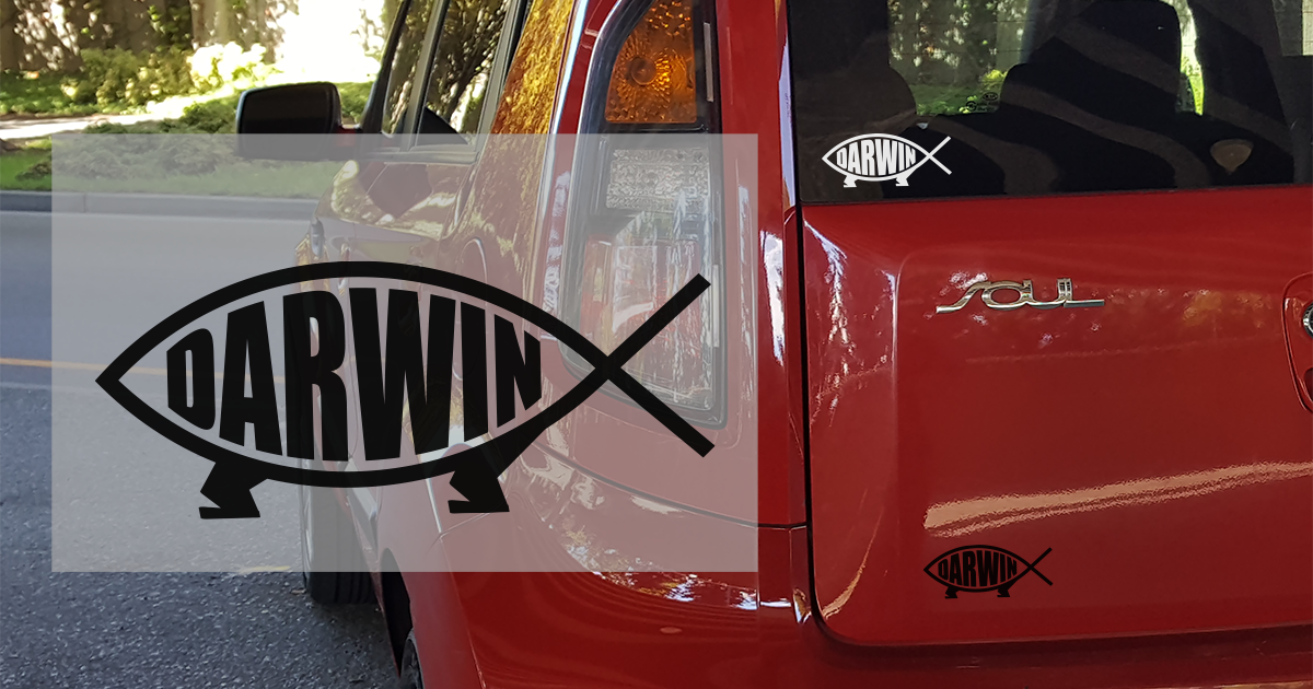Darwin Fish Sticker - Logikal Threads
