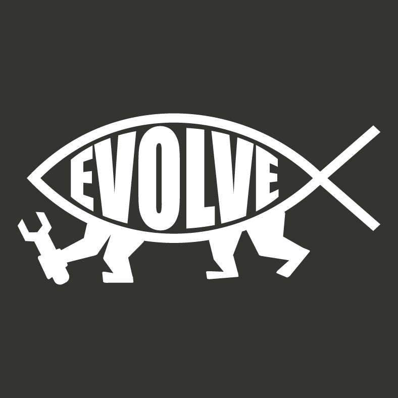 Evolve Fish Sticker - Logikal Threads