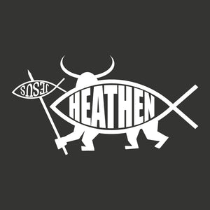 Heathen W/Spear Sticker - Logikal Threads