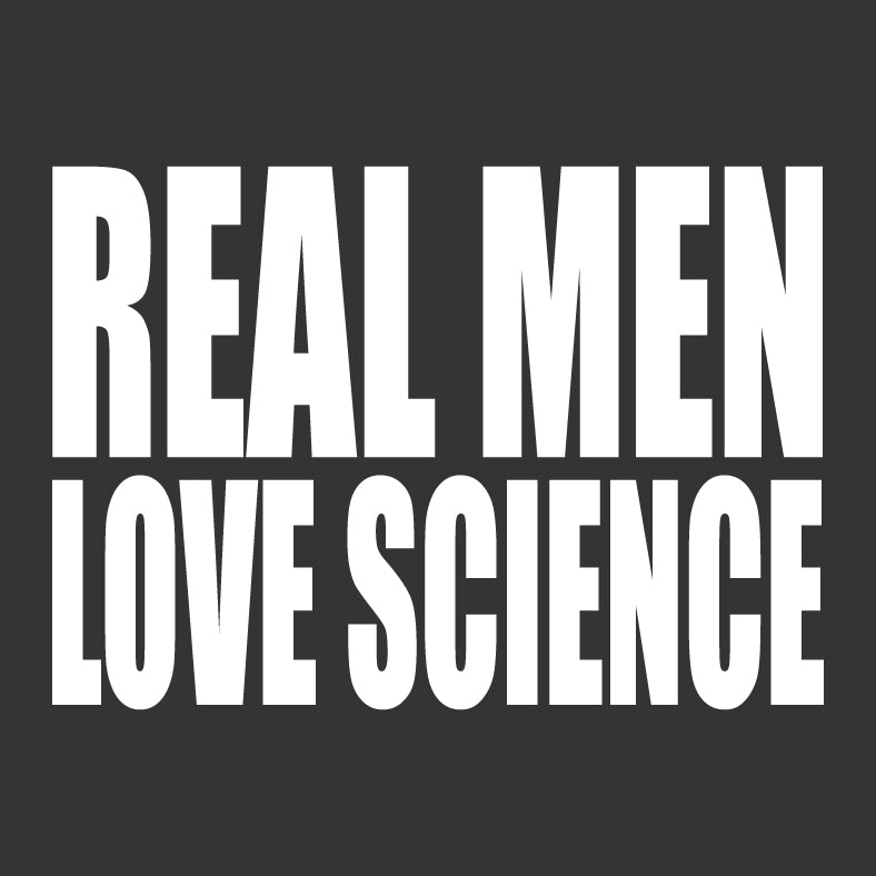 Real Men Love Science Vinyl Sticker Decal - Logikal Threads