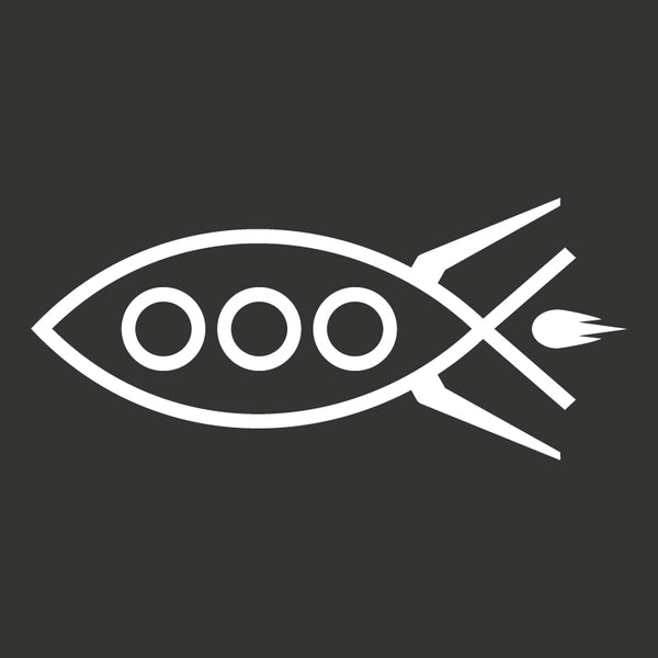 Rocket Fish Decal - Logikal Threads