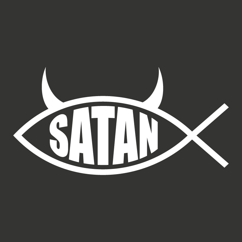 Satan Fish Vinyl Sticker Decal - Logikal Threads
