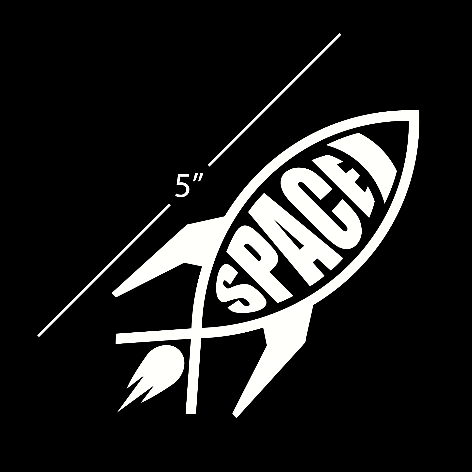 Space Rocket Vinyl Decal