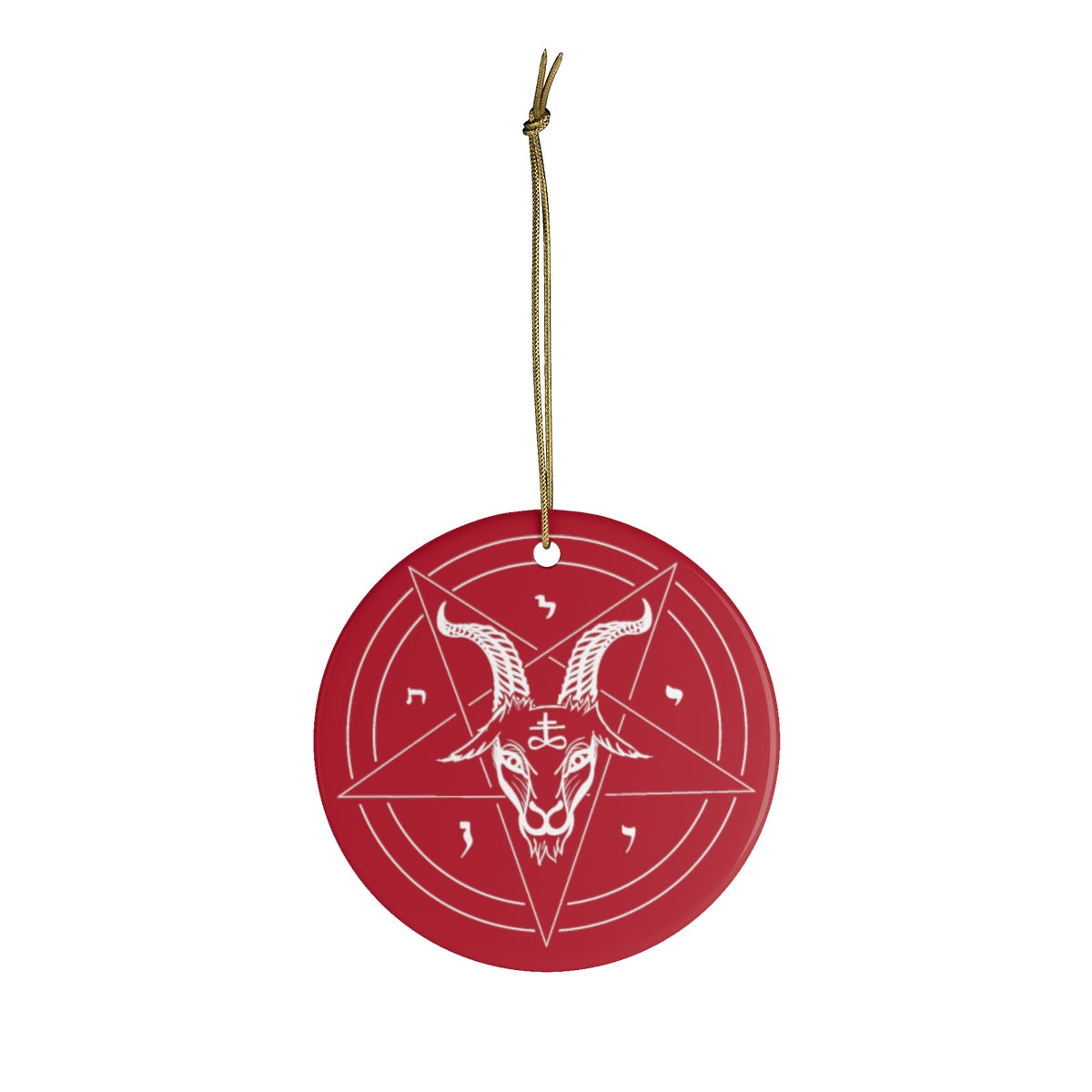 Satanic Baphomet Ceramic Ornament - Logikal Threads