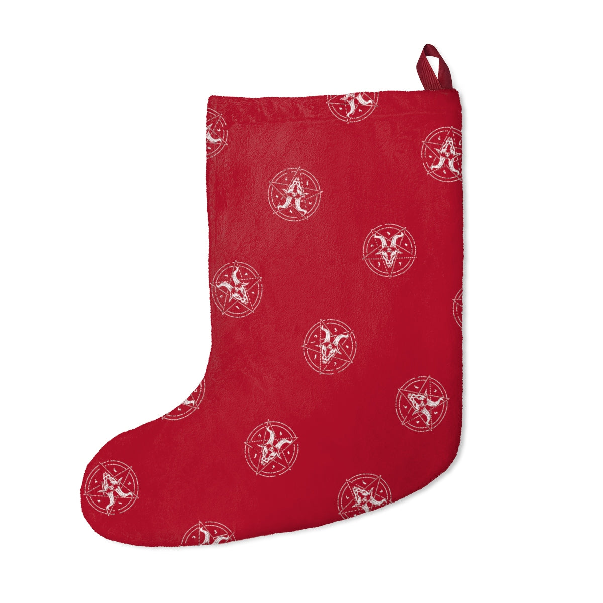 Fuzzy Satanic Holiday Stocking - Logikal Threads