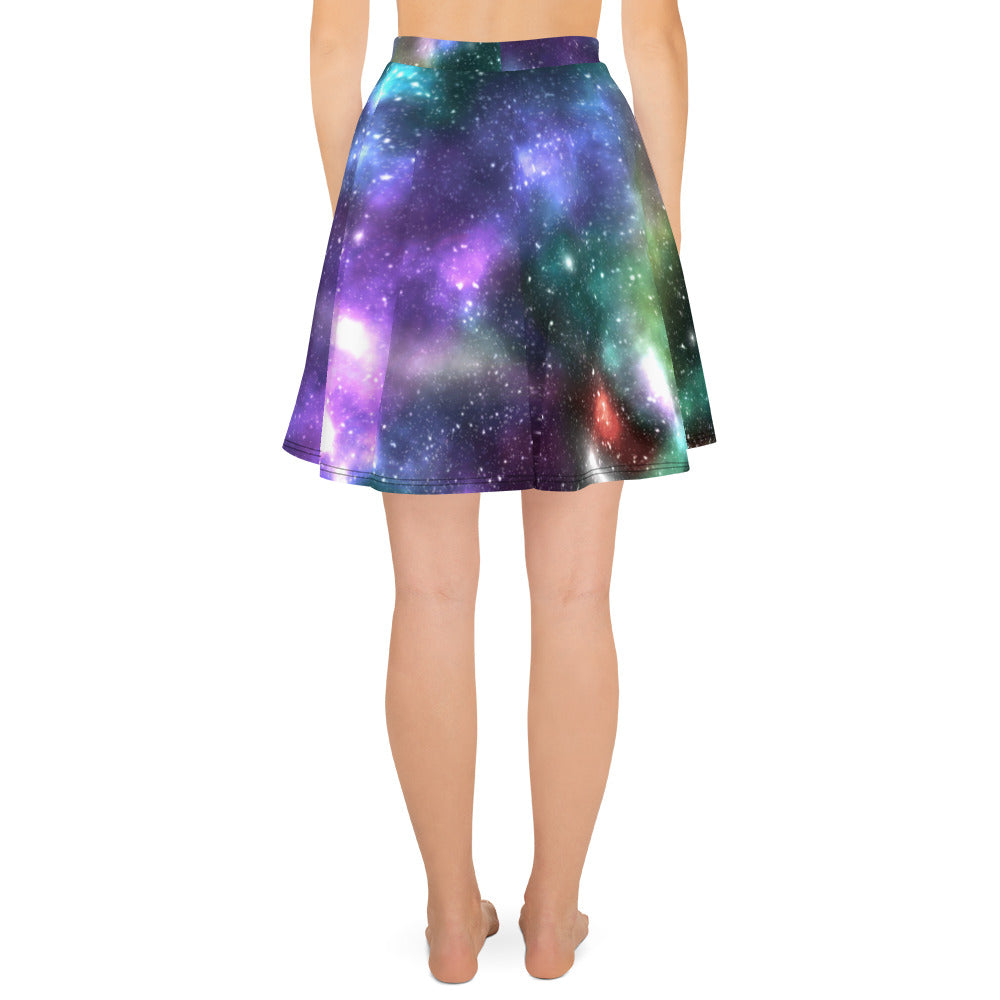 Galaxy Print Skater Skirt - Logikal Threads