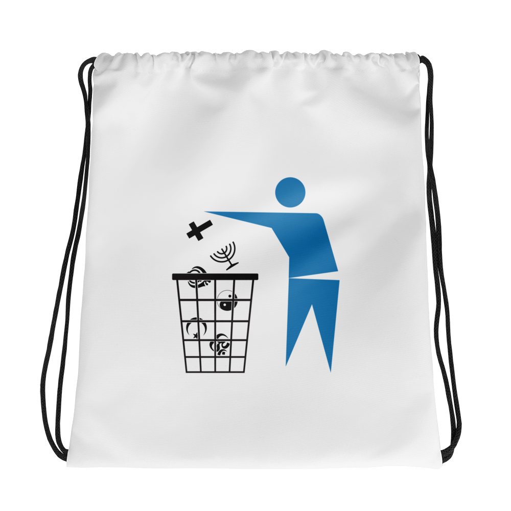 Please place religion in trash drawstring bag. - Logikal Threads