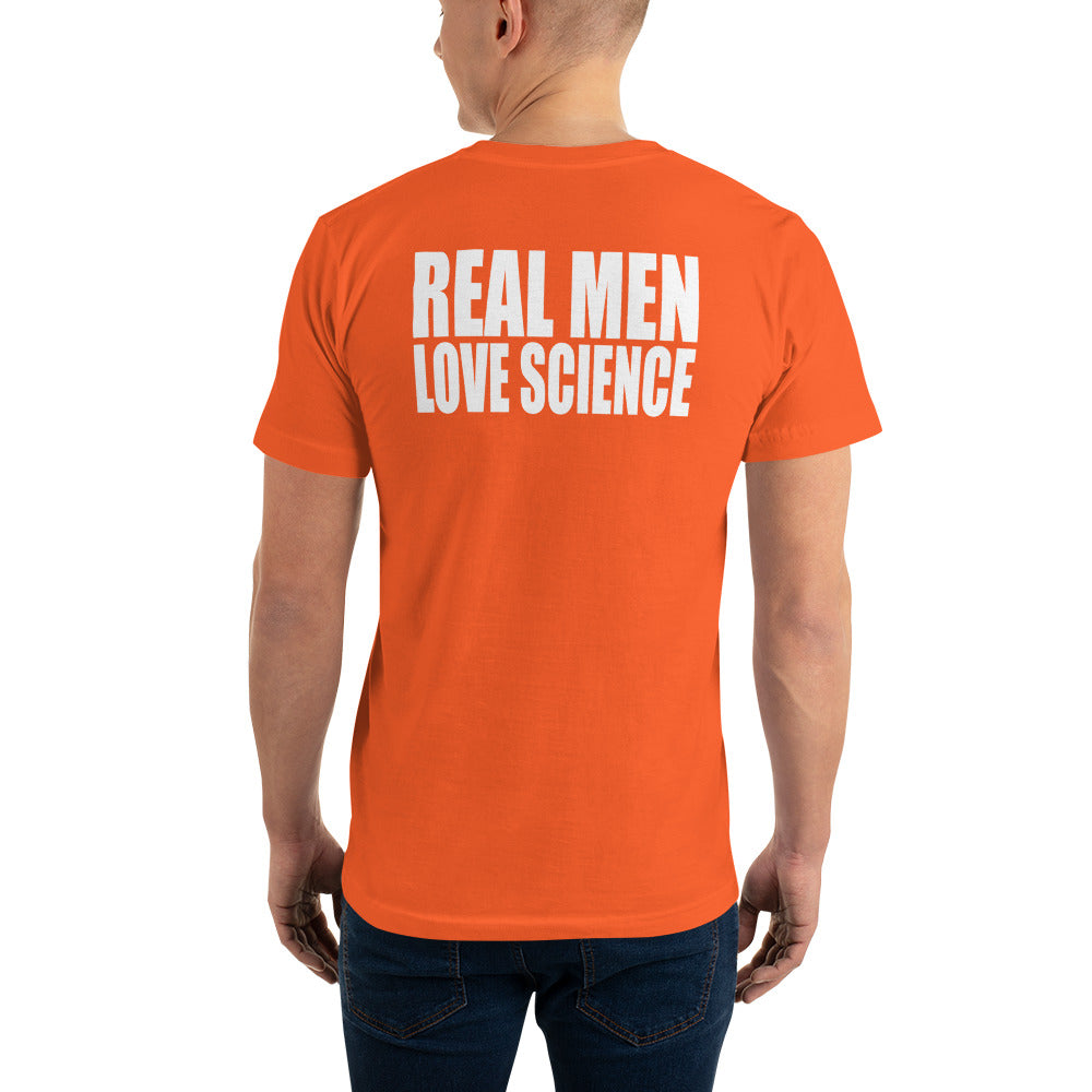 Real men love science v1 on an American Apparel Short Sleeve Shirt. - Logikal Threads