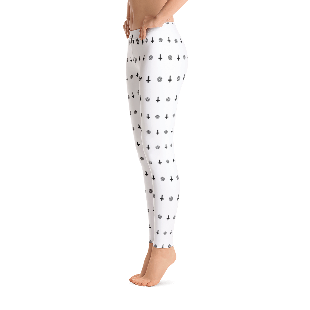 Upside Cross and Pentagram leggings - Logikal Threads