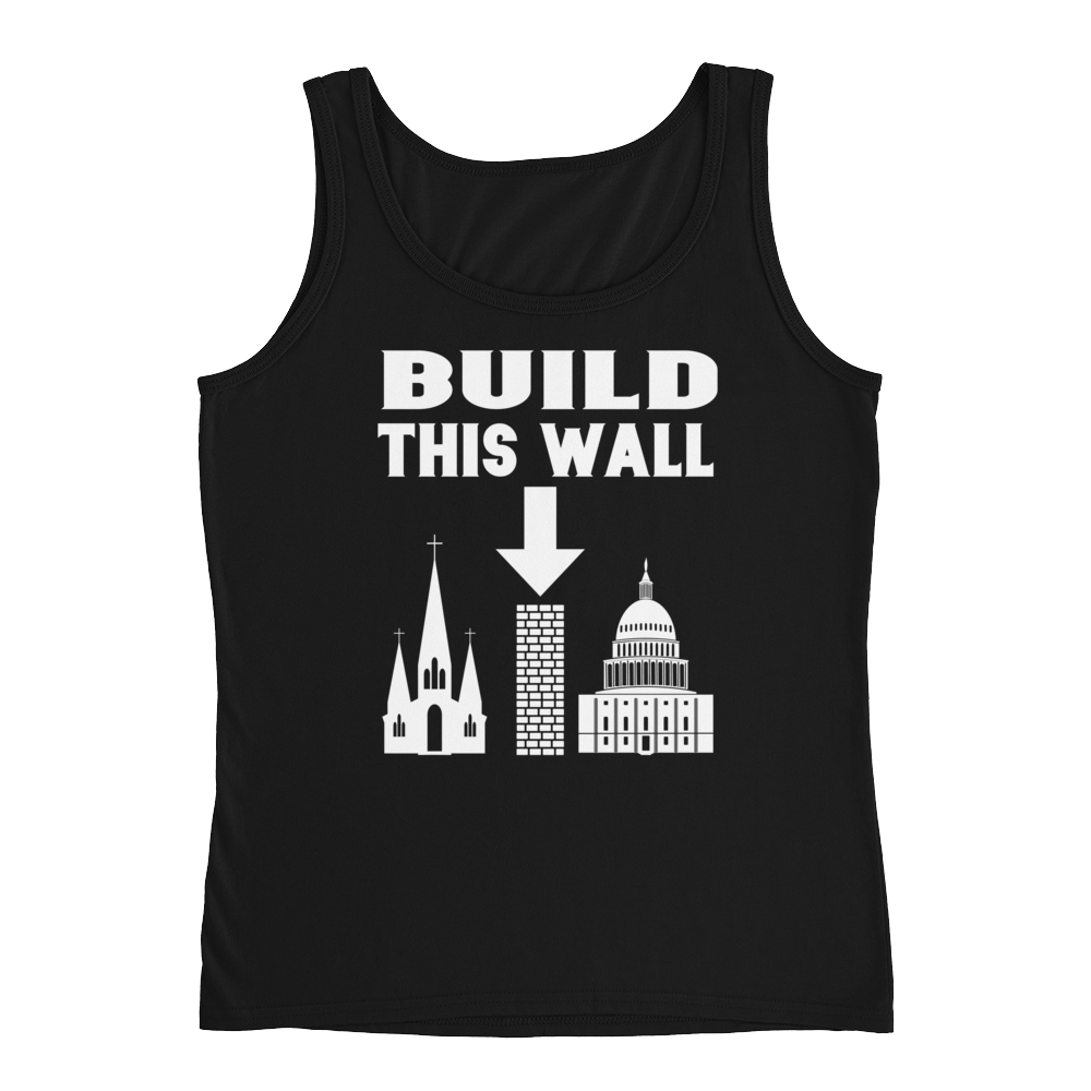 Build This Wall Ladies Tank Top - Logikal Threads