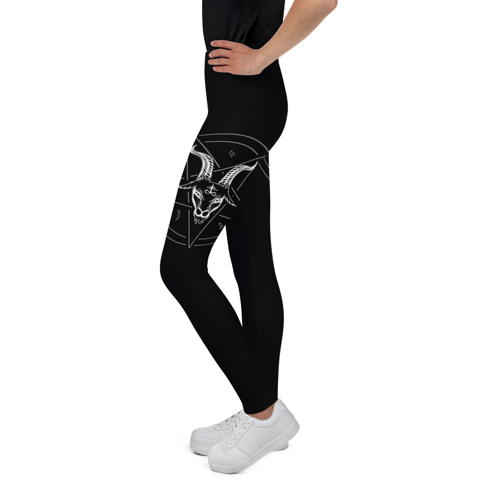 Baphomet Satanic Pentagram Youth Leggings - Logikal Threads