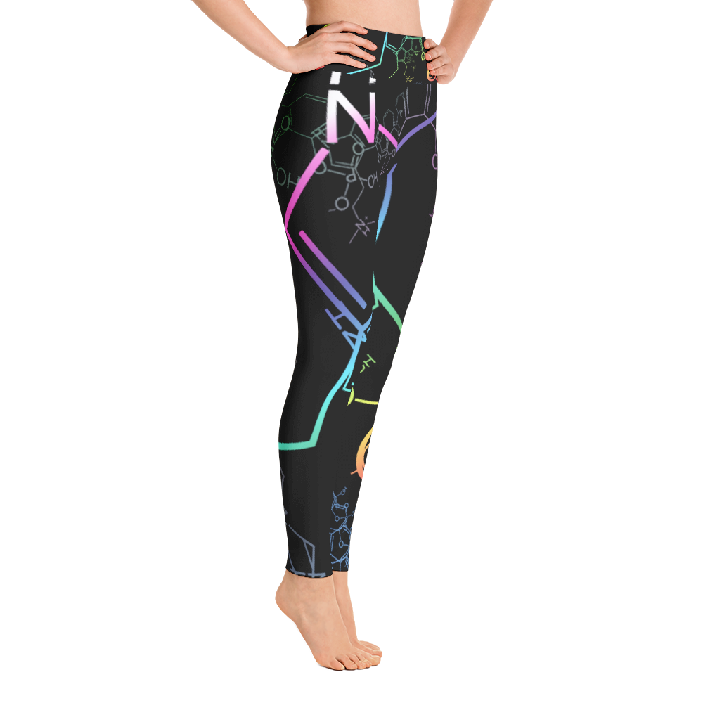 Psilocybin Fractal Yoga Leggings - Logikal Threads