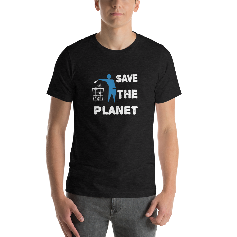 Throw Religion In The Trash & Save The Planet Funny Atheist Shirt - Logikal Threads