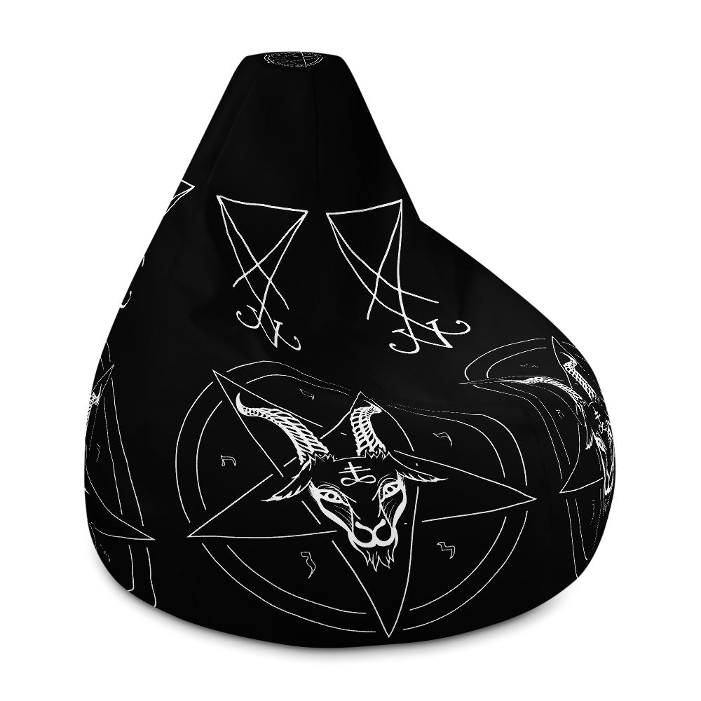 Baphomet Satanic Bean Bag Chair Cover