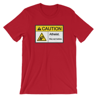 Caution Atheist May Eat Babies Funny Atheist Shirt - Logikal Threads