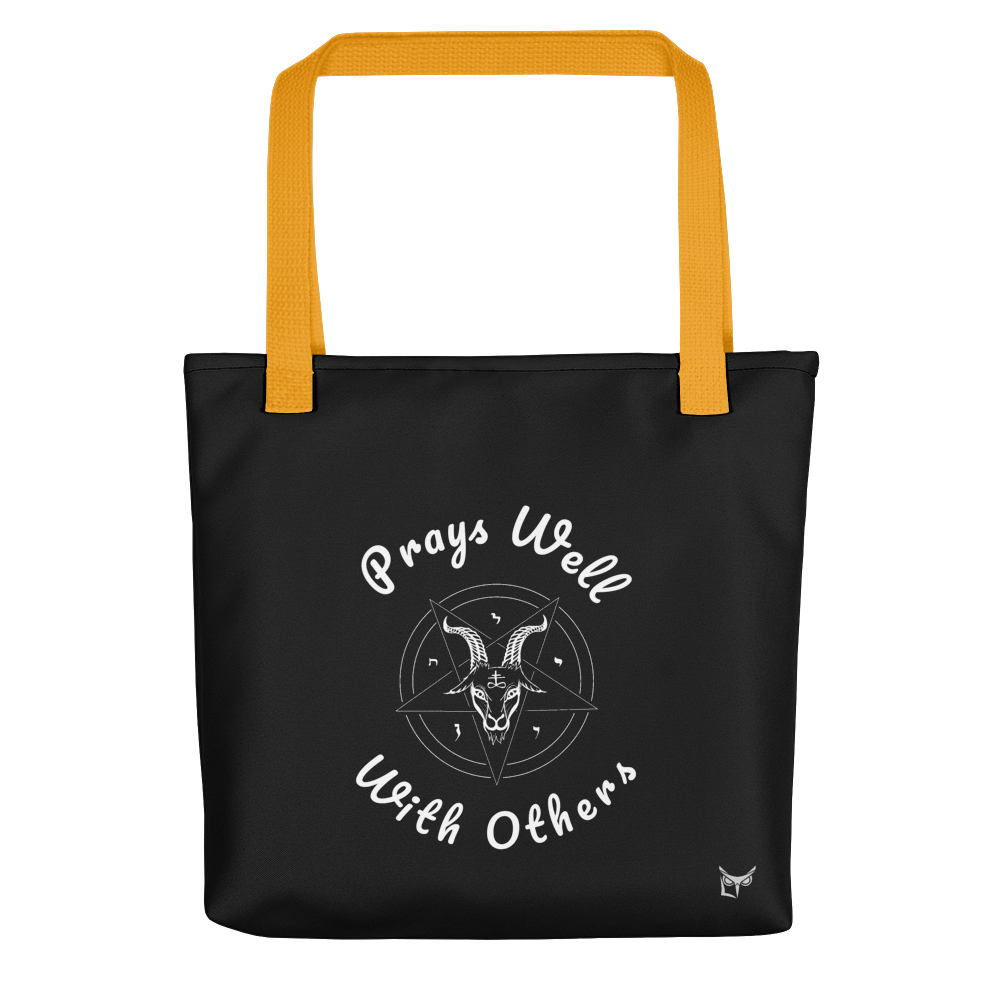 Prays Well With Others Offensive Tote Bag - Logikal Threads