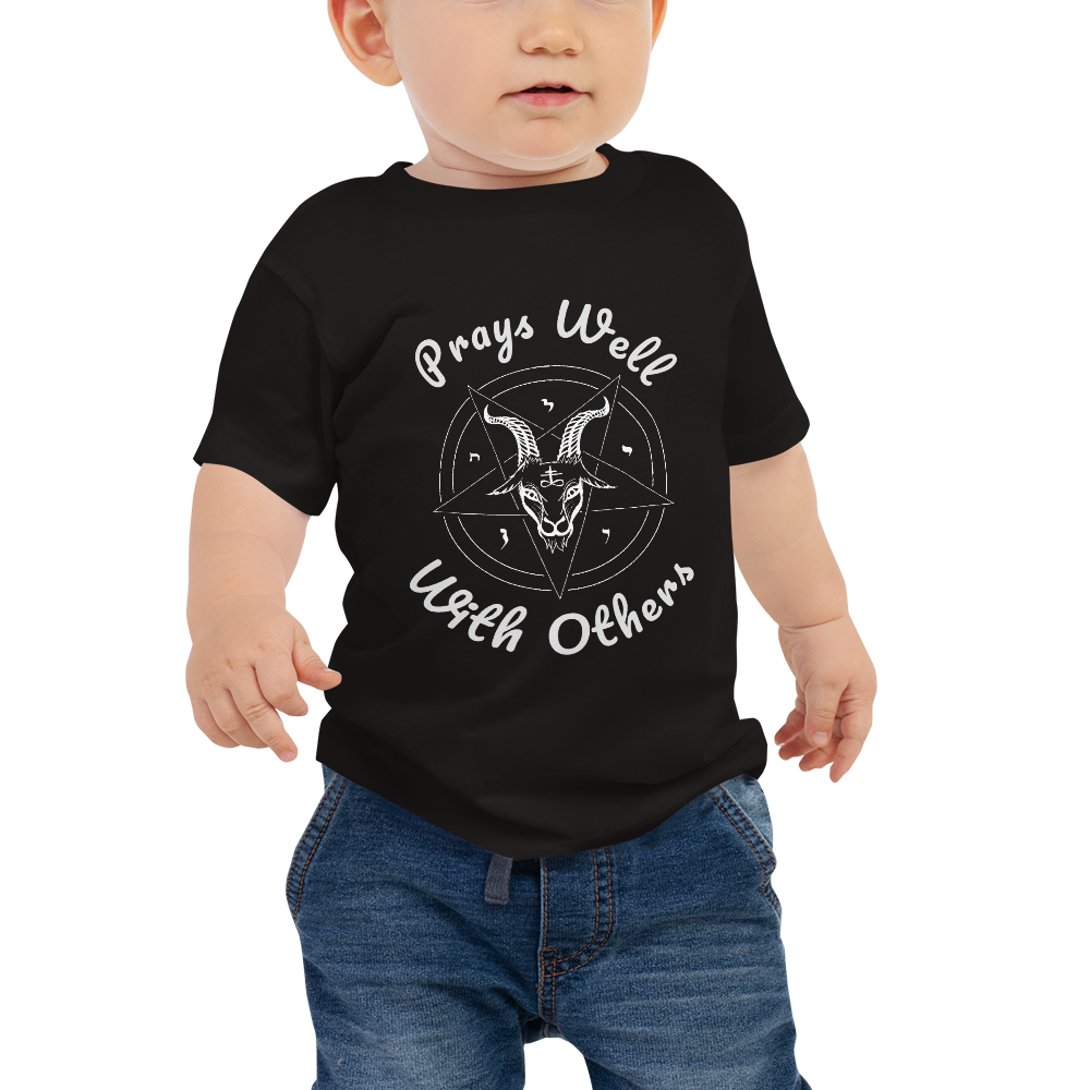 Prays Well With Others Offensive Baby Short Sleeve T-shirt - Logikal Threads