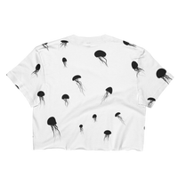 Jellyfish Ladies Crop Top T-shirt - Logikal Threads