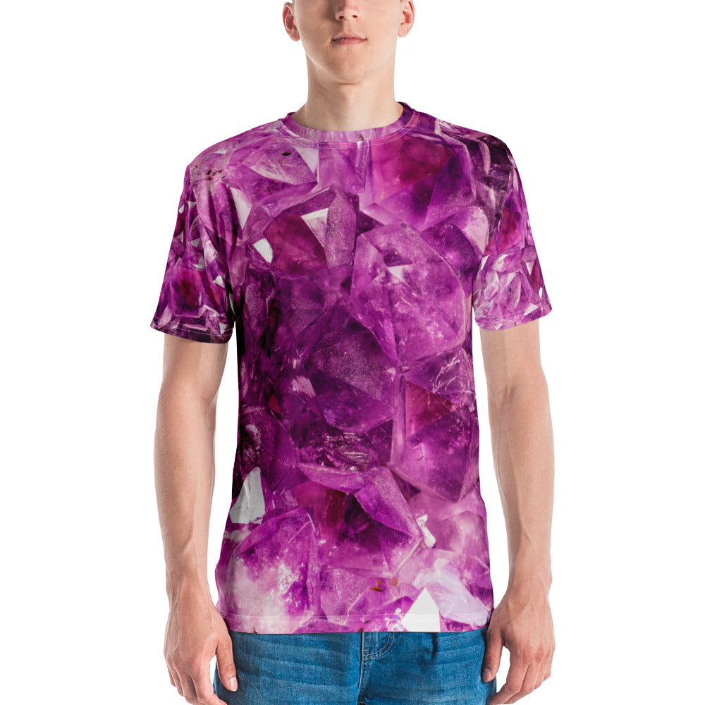Amethyst All Over Men's T-shirt - Logikal Threads