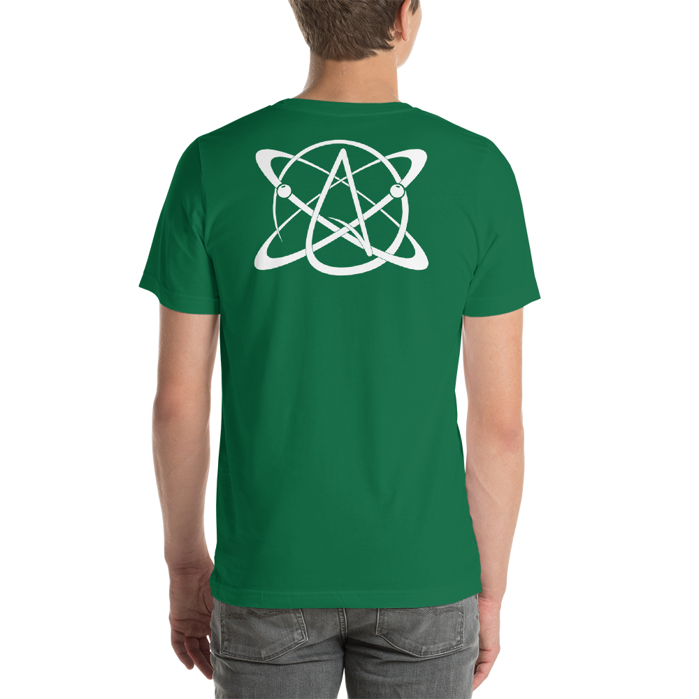 Atomic Atheist Symbol T-shirt - Logikal Threads