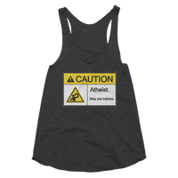Caution Atheist May Eat Babies Women's Tank Funny Atheist Shirt - Logikal Threads