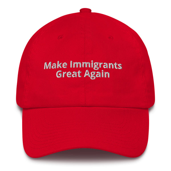 Make immigrants great again - Trump parody joke hat - Logikal Threads