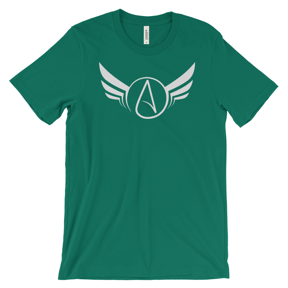 Atheist Symbol Wings T-shirt - Logikal Threads