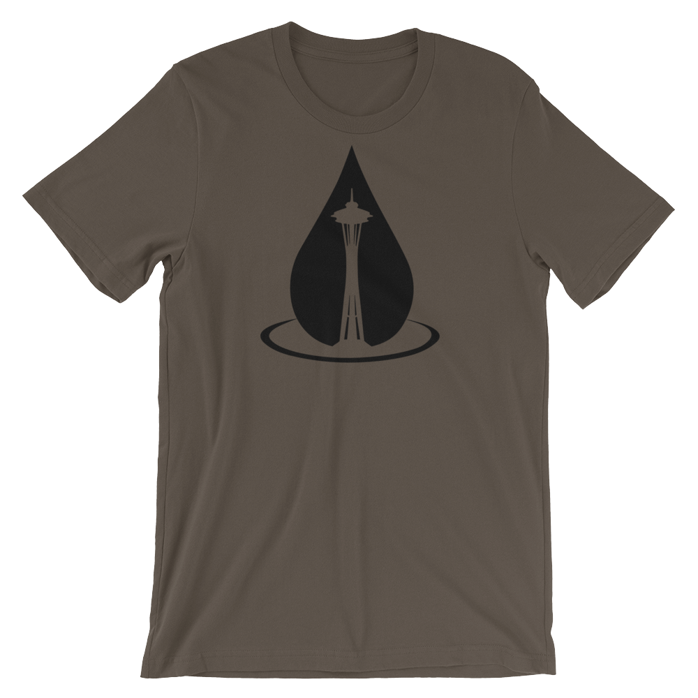 Space Needle Raindrop 1.0 - Short Sleeve t-shirt - Logikal Threads
