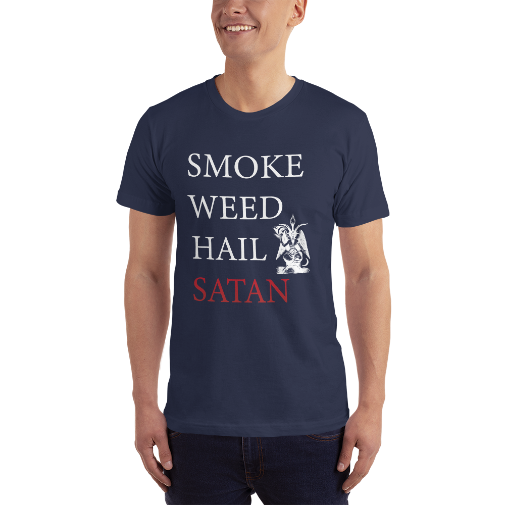 Smoke Weed Hail Satan T-Shirt - Logikal Threads