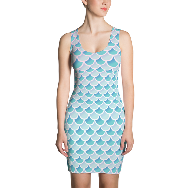 Fitted Mermaid Scale Dress - Logikal Threads