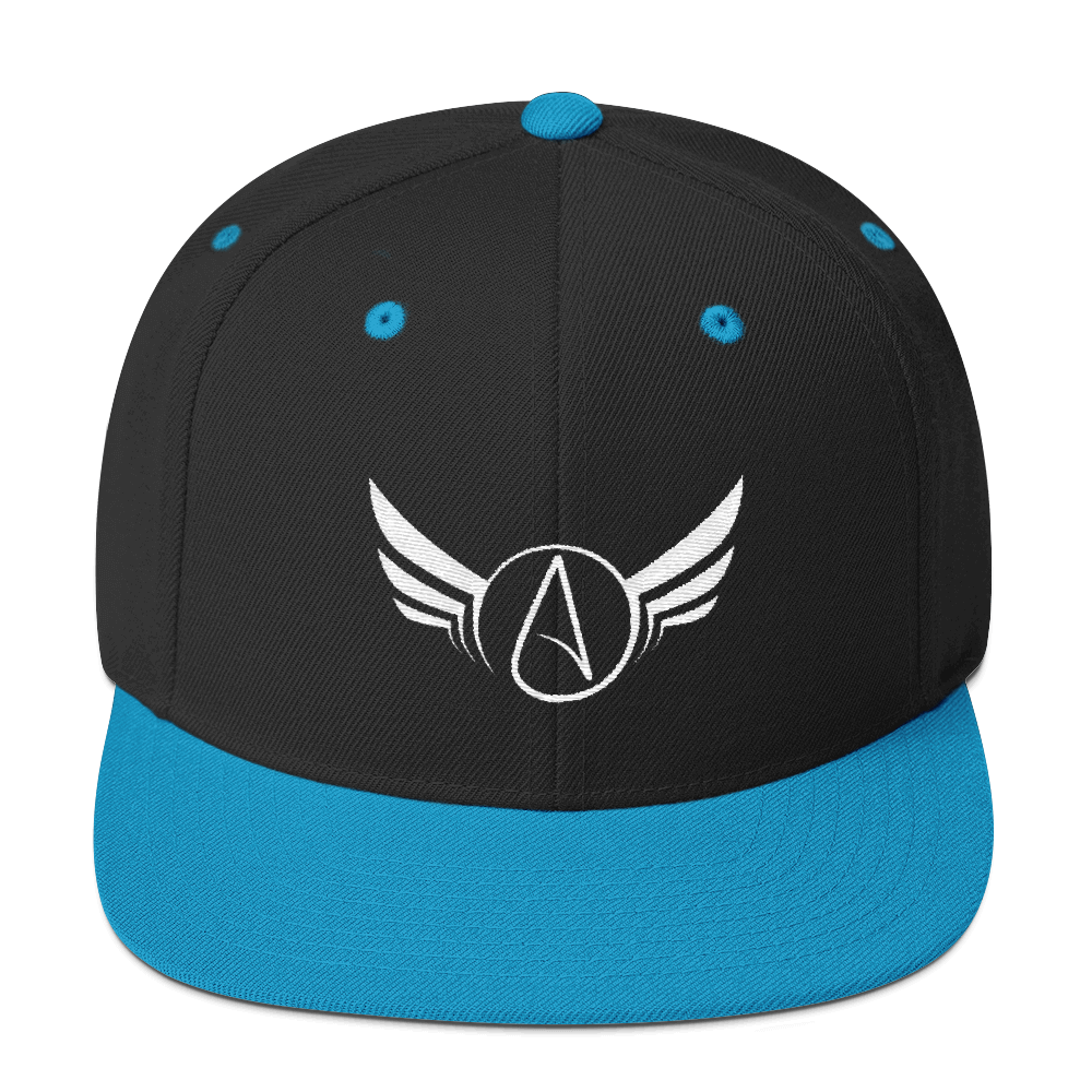 Atheist Wings Flat Bill Snapback Hat - Logikal Threads