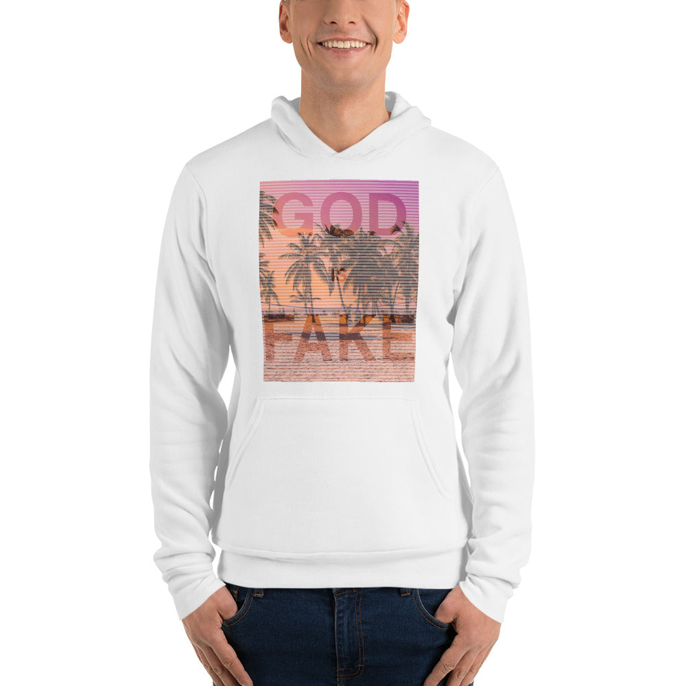 God is Fake Unisex hoodie - Logikal Threads