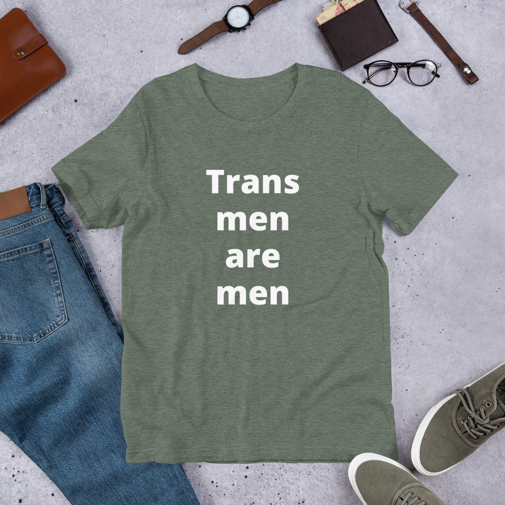 Trans Men Are Men Short-Sleeve Unisex T-Shirt - Logikal Threads
