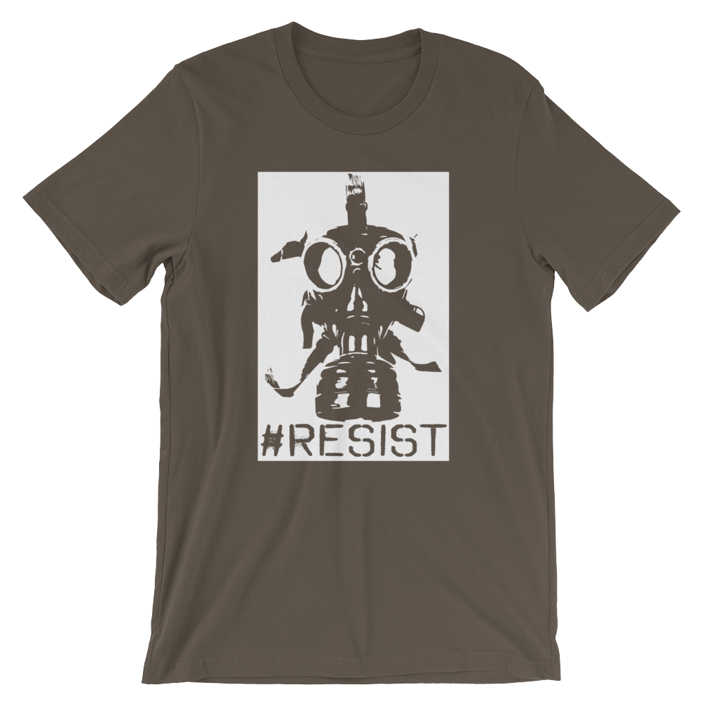 Resist Gas Mask T-Shirt. - Logikal Threads